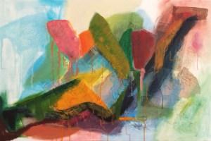 Tulips 120 x 80 cm mixed media on canvas